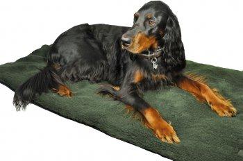 299812- Hundedecke mit Faserpelz -95x140