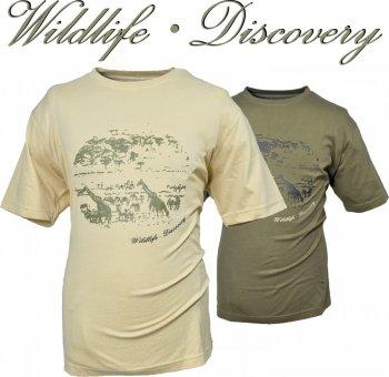 10527020-710- T-Shirt - Outdoor- Wildlife Discovery in sand-natur Größe L + XL