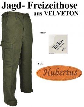 105414- Jagd- Freizeithose aus Velveton mit Beintasche