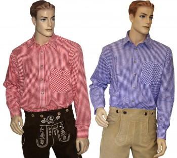Freizeithemd Trachtenhemd OS Trachten Hemd kariert Oktoberfest