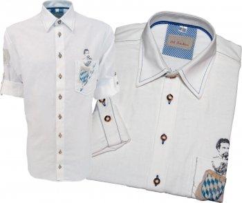 420038-2540-01 - Trachtenhemd Hemd aufwendig Druck König Ludwig  M=39-40