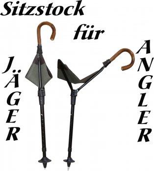 50300-V - robuster Sitzstock für Jäger und Angler Stock Jagd höhenverstellbar PRAKTUS