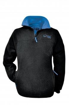 warmes Fleece SWEATSHIRT Brigg anti-pilling Unisex schwarz/royalblau